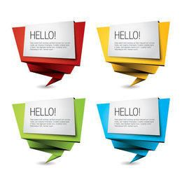Multicolored Origami Banner Set