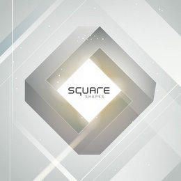 3D Diamond Square Grey Background