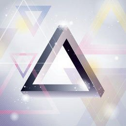 Glossy 3D Triangles Abstract Background