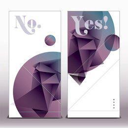 Polygonal Origami Design Classy Banners