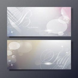 Shiny Bubbles Banner Templates