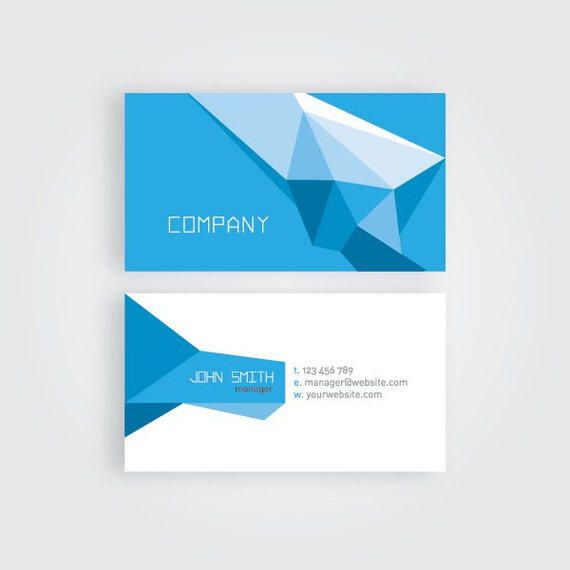 Abstract Polygonal Origami Business Card Vector Download