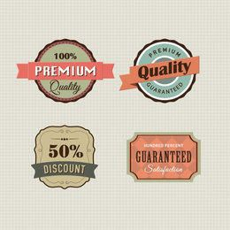 4 Vintage Promotional Label Templates