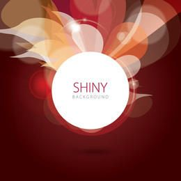 Shiny Swirls Bokeh Circle Background