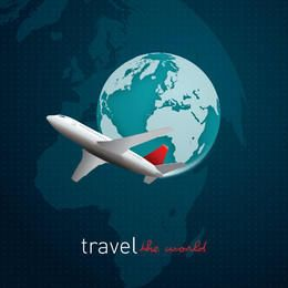 Travel World Grid Background