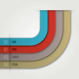 Infográfico de listras curvy colorido simples