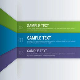 Multicolored Folded Stripy List Infographic