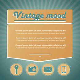 Vintage Mood Technological Infographic