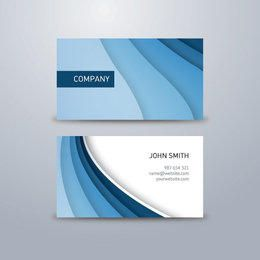 Blue Waves Classy Business Card