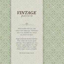 Banner elegante vintage Floral padrão
