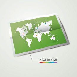 Travel Map Printed Paper Background