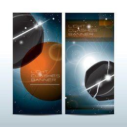 Light Clashes Banners de ciencia ficción