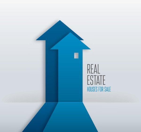 Real Estate Arrow Buildings Infographic Vector Download