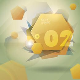 Abstract Hexagon Cubes Background