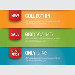 Multicolor Promotional Banner Templates