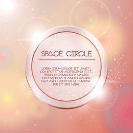 Círculo espacial brillante fondo