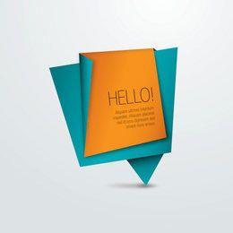 Mensaje de papel de origami abstracto