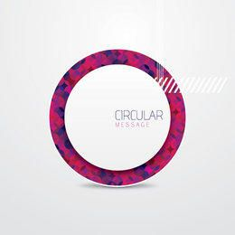 Polygonal Circular Message Background