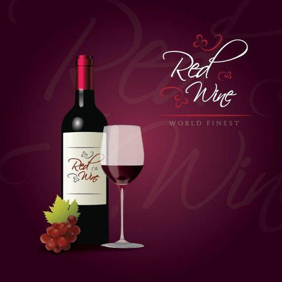 Red Wine Party Poster - Vector download