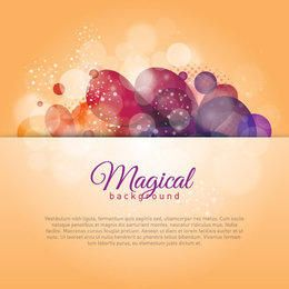 Shiny Magical Colorful Bokeh Background