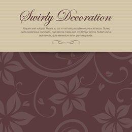 Cartão Floral Decorativo