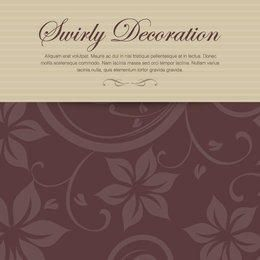 Decorative Floral Invitation Card