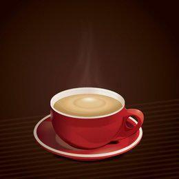Fondo caliente de la taza de café