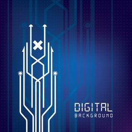 Digital Circuit Lines Background