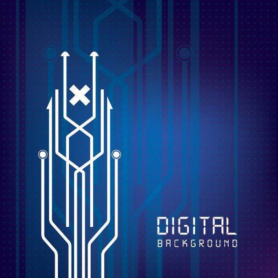 Digital Circuit Lines Background - Vector download