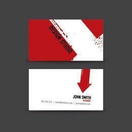 Arrow Prints Minimal Business Card