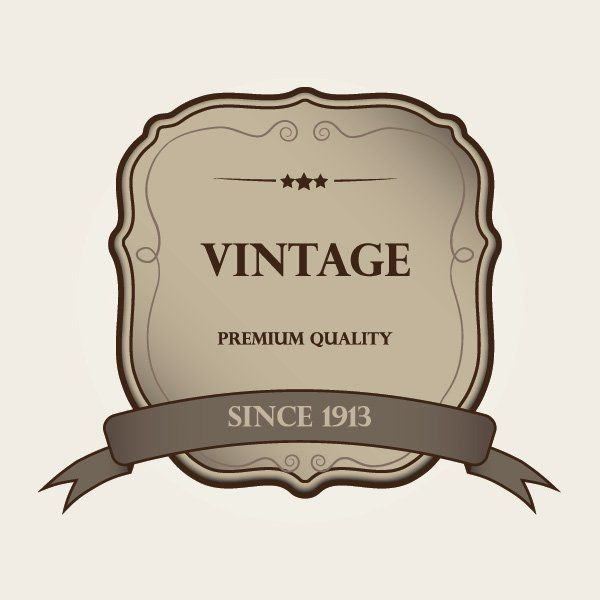 Decorative Vintage Label Template Vector download – Label Template
