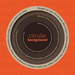 Fondo de mensaje circular