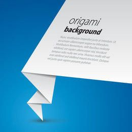 Origami Paper Business Background
