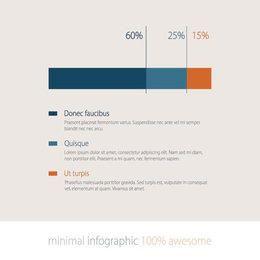 Infografía de barra de crecimiento mínimo