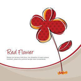 Red Flower Plant Funky Background