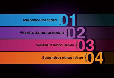 Multicolored Numbered Stripes Infographic