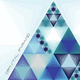Pirâmide de cristal de triângulos azuis