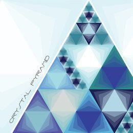 Pirámide de cristal de triángulos azules