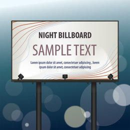Billboard Template with Lights