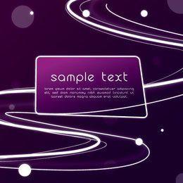 Banner púrpura del sistema solar