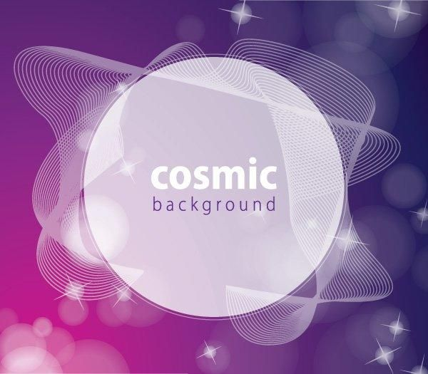Spiral Lines Colorful Cosmic Background