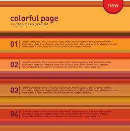 Multicolored Numbered Rows Infographic
