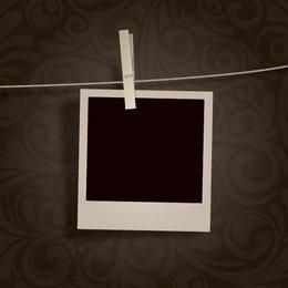 Blank Polaroid Photo Hanging