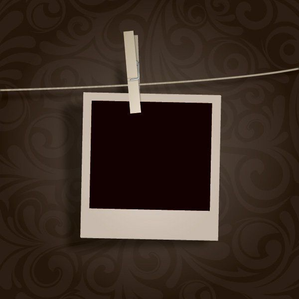 polaroid frame with scotch tape vector download