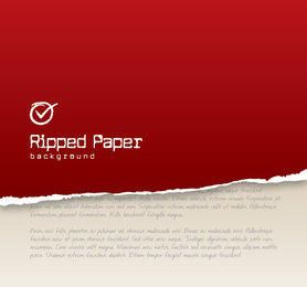 Red Ripped Paper Background