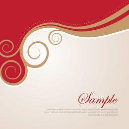 Golden Swirls Abstract Background