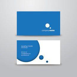 Cartão de visita azul elegante
