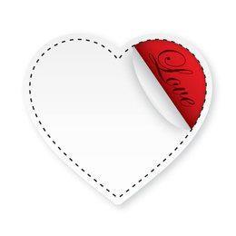 Grey Flipped Love Sticker
