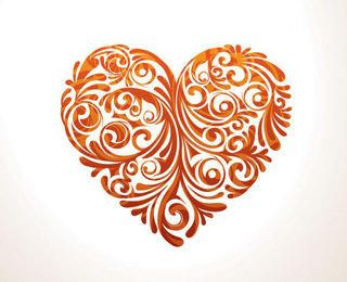 Floral Ornamented Heart