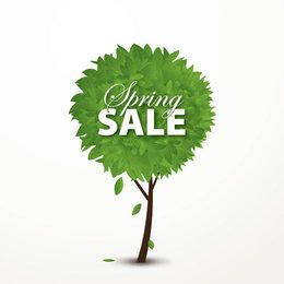 Spring Sale Concept Tree